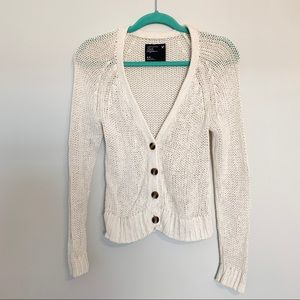 American Eagle Outfitters White Knit Cardigan Top
